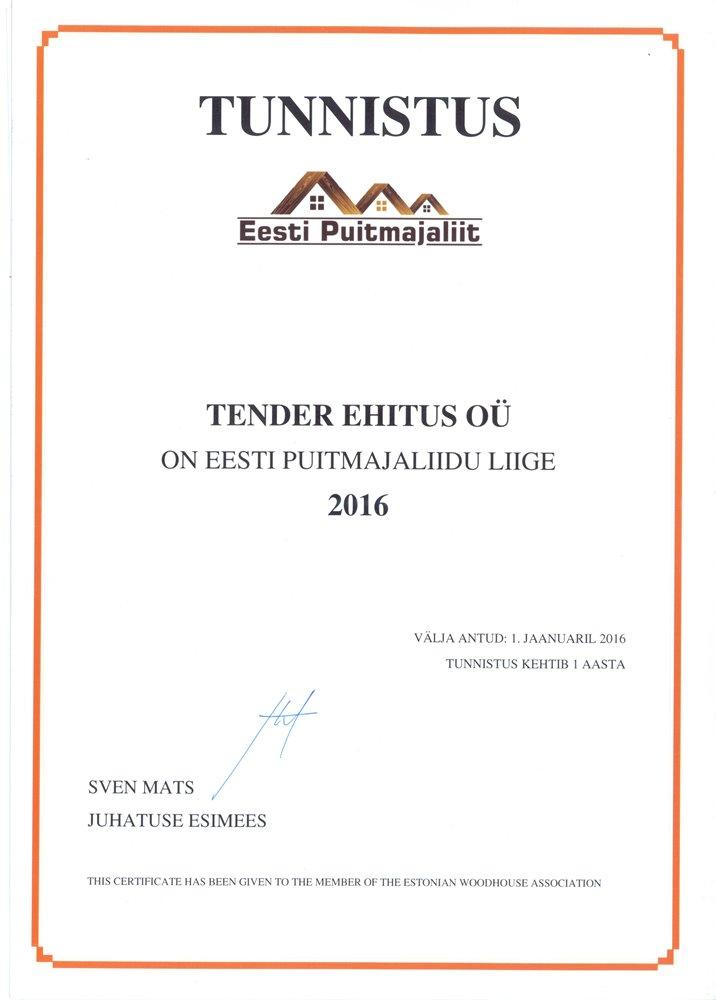 Eesti Puitmajaliidu liige. martti@tender.ee +372 5551 8185.