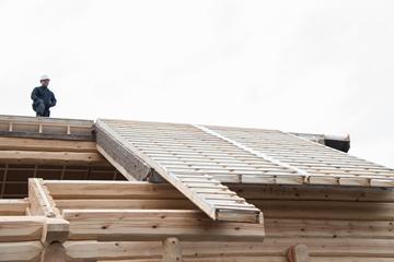 palkmaja katuse soojendamine